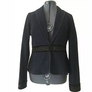 Nine West Jacket Size Small Blue Denim